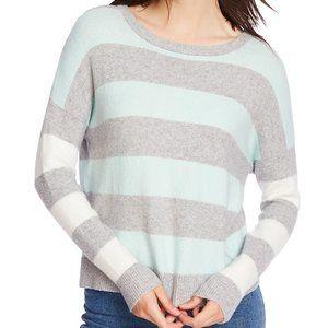 Court & Rowe Stripe Sweater Silver Heather